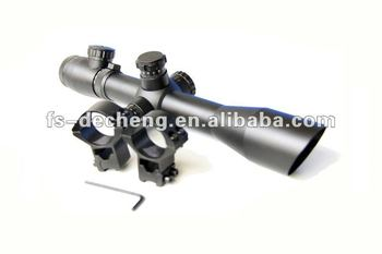 4-12x40 E hunting riflescope with red dot and green dot illuminated led