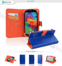 Colorful leather universal mobile phone for samsung galaxy s5 case