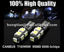 9SMD 5050-3chips canbus led w5w T10 194