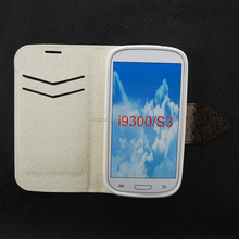 Colorful TPU+PU Stiching leather case for SumSung S3 I9300