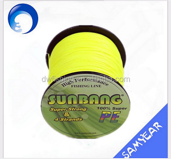 Yellow Color In Stock 2016 New Brided Reel Fishing Line