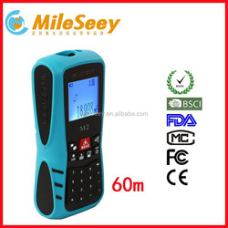 China Manufacture Mileseey M2 60m wire length measuring device mini digital multimeter
