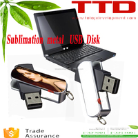 8G Rotating U Disk , sublimation blank portable Memory disk , metal Swivel Memory Stick