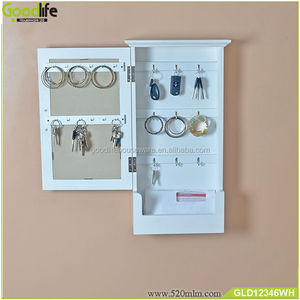 Living room furniture wholesale wall mounted wooden key cabinet