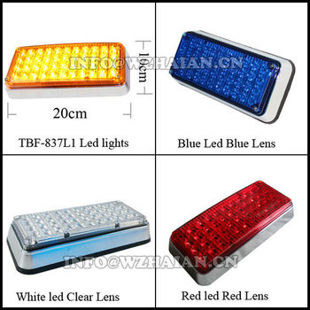 vehicle side led lights for ambulance red blue amber white TBF-837L1