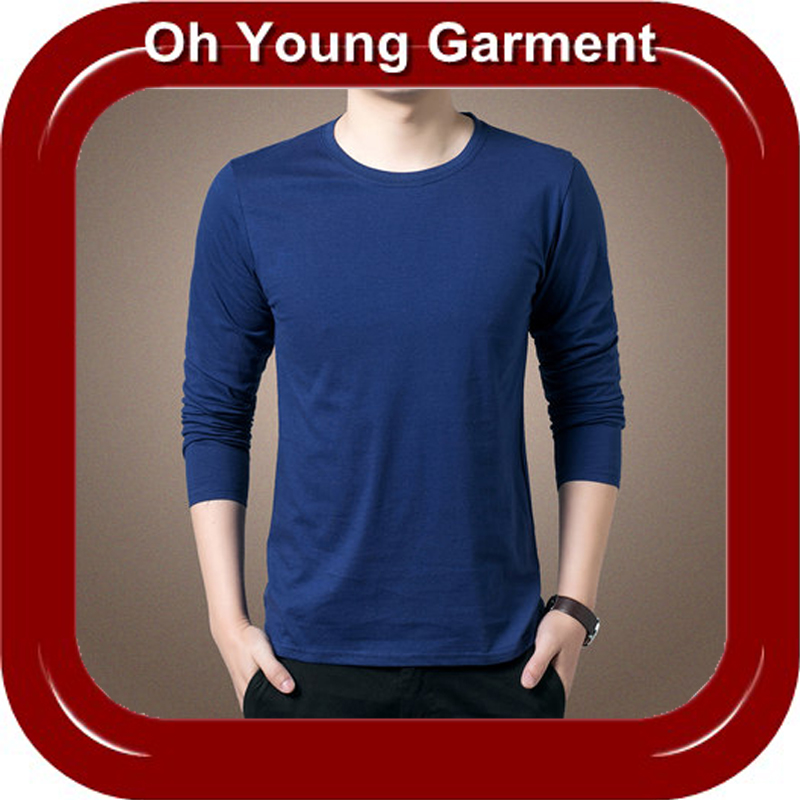 OEM cotton long sleeve men's tshirt with your own logo,prompt delivery clothes from china,men's tshirt in alibab web