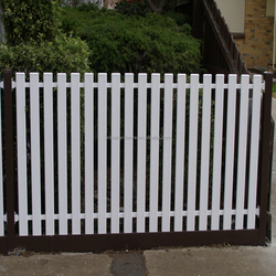 White Picket Aluminium Garden Fence Panels In Low Price