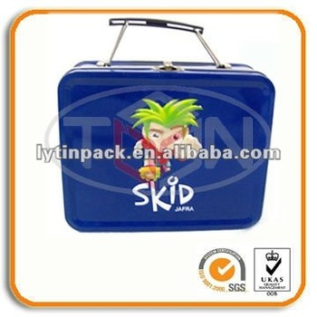 wholesale metal lunch tin boxes with plastic handle