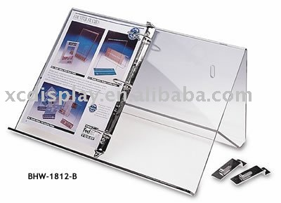 acrylic binder stand for catalogue