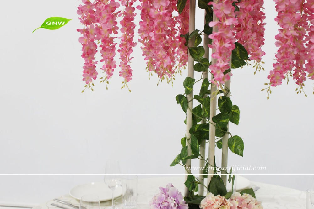 GNW 2016 New Style Product tall wedding centerpiece with flower for table decoration