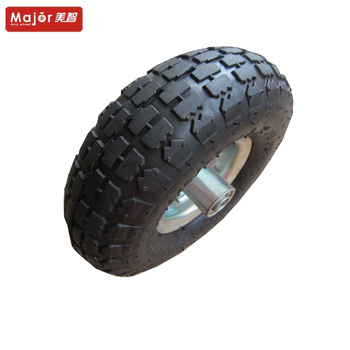 4.10/3.50-4 rubber tires roller bearing pneumatic wheels forgarden trailer/wheelbarrow/farm cart/lawn mower