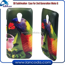 blank cover sublimation 3d case for new MOTO G 2 phone shell,vacuum machine printing