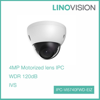 4MP HD WDR Network Vandal-proof IR Dome Motorized lens Security IP Camera