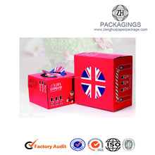 Custom Printing Logo Paper Cardboard Cake Packaging Box With Handle