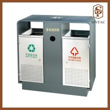 Battery recycling outdoor waste bin