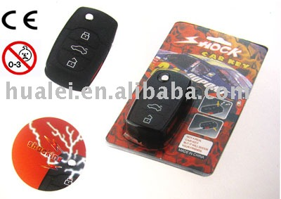 Electric Shock LED Laser Car Remote Control keychain