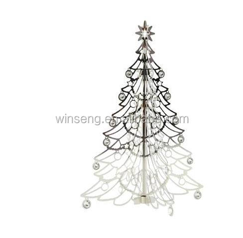 Hot Sale Silver Christmas Tree Hanging Ornament Stand with Crystals from Swarovski