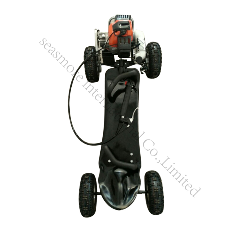 Powerful gas powered four wheel skateboard 49cc gasoline scooter on sale from factory