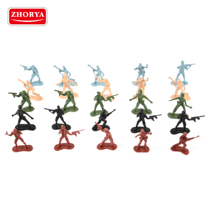 zhorya wholesale bulk painting tin action figure set toy army plastic soldiers