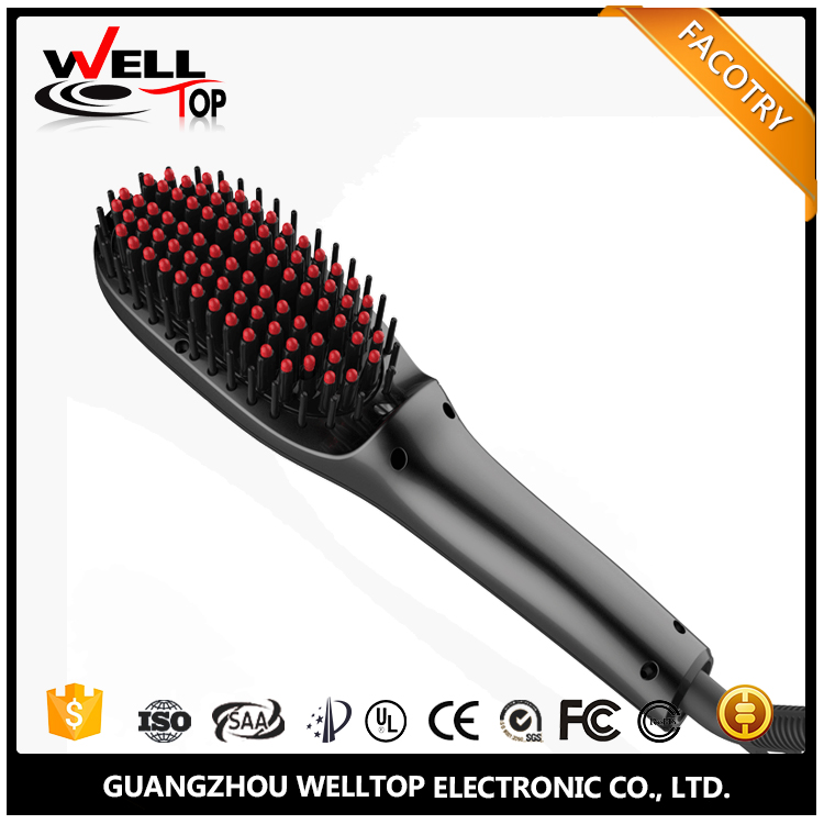 Free Sample new arrival profeesional electric hot air ceramic digital steam hair straightener brush