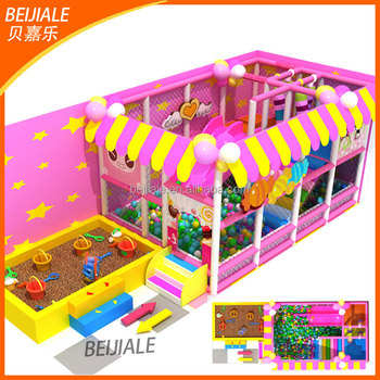 2017 hot sale amusement park equipment kids soft playground indoor playground