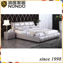 Bedroom furniture set genuine leather bed DR316