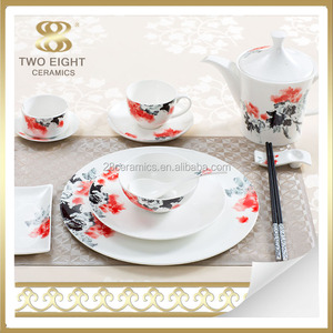 Stoneware opal glassware latest dinner set with popular design