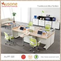 Modern Wooden Office Workstation Dimensions