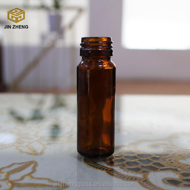 Amber 30ml 2oz Oral Liquid Pharmaceutical Medical Glass Bottle With Lid