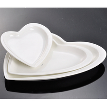 Ceramic Porcelain Bone China Stoneware White Heart Shaped Plates Dishes