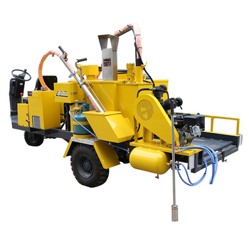 straight line large crack potting machine high quality crack grouting machine cement pavement floor crack reactor