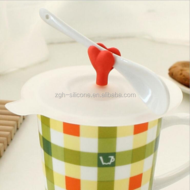 2016 Creative design seal silicone tea cup cover