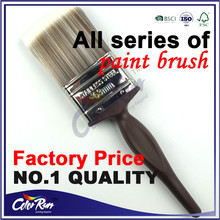 ColorRun Brushes Red Varnished Cheap Plastic Handle Synthetic filament Paint Brushes