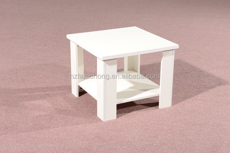 HC-M041 small white office wooden tea table chinese end table