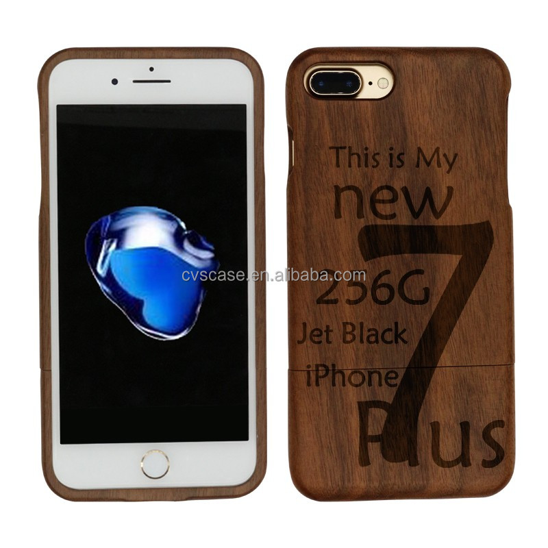 Wholesale Price for iPhone 7 Plus Case,Laser Engraving Cell Phone Case,Wood Phone Cover for iPhone 7 Plus