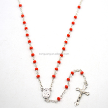Crystal beads rosary, catholic rosary necklace jesus mercyful centerpiece