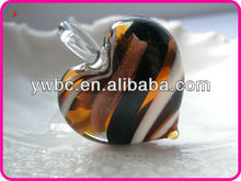 Pretty Murano puffed glass heart pendant