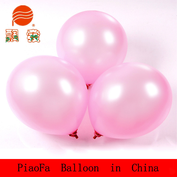 The Cheapest price 2016 Wholesale High quality Branding 12inch different weight Latex free Pearl color Balloon