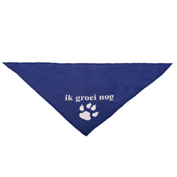100% cotton heart printing pattern dark blue pet bandana for dogs