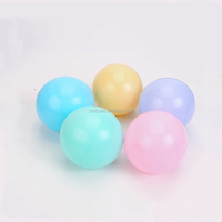 80mm Large Yellow Plastic Play Balls With Soft LDPE Material for Kids