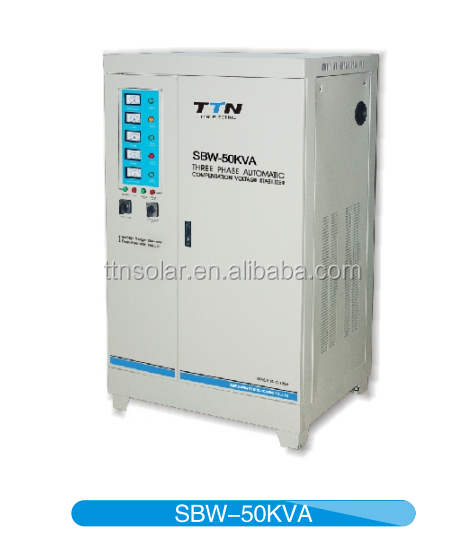 Latest products 3 phase servo motor control model ac automatic SBW 50KVA voltage stabilizer