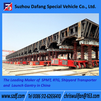 SPMT Self-propelled modular transporter, low bed semi trailer dimensions