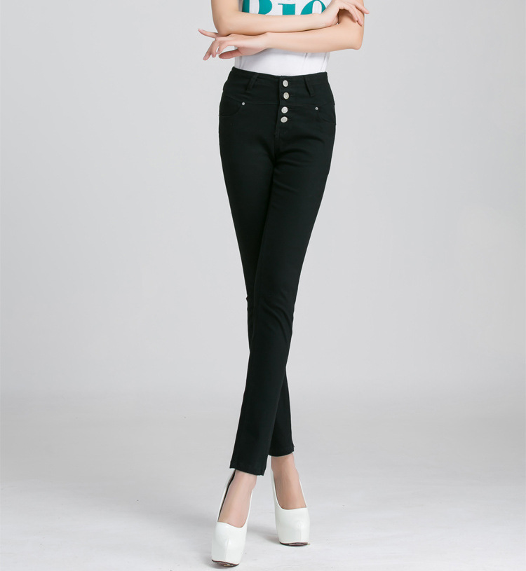 new women's waist size and blue jeans jeans with multi breasted women's trousers
