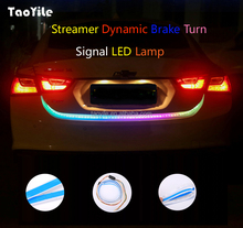 Car Flowing Led Flexible Strip Truck Tail Box Light Tube RGB Rear Brake Turn Signal Light