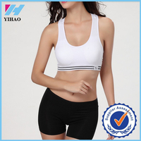 Yihao sexy bra and panty new design padded vest for ladies sports bra cropped camisole hot gym yoga sexy bra