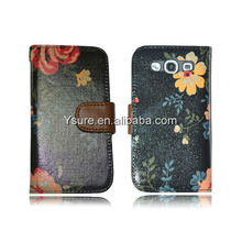 Good Design Credit Card wallet PU leather case for Samsung galaxy S3 i9300