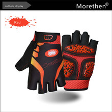 Professional cycling accessories gel cycling gloves in finger-less