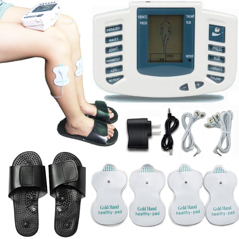 Electrical Stimulator Tens Acupuncture Full Body Pulse Relax Muscle Therapy Massager Machine with therapy slipper