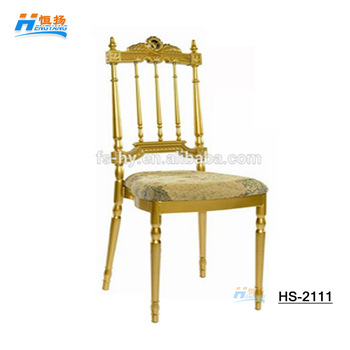 wholesale gold metal wedding napoleon chair aluminum chiavari chair