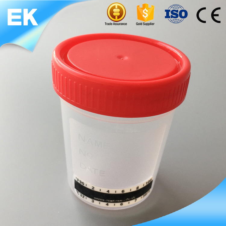 Low cost small PET+liquid crystal top quality custom urine container